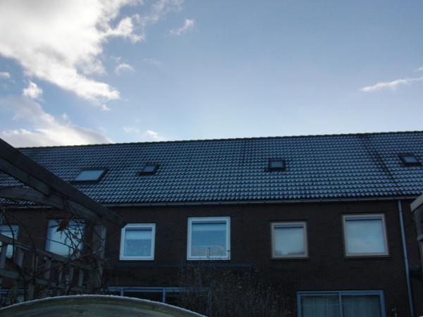 Het dak voor het plaatsen van het dakkapel